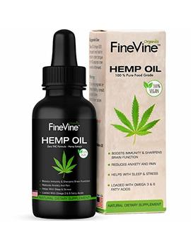 Organic Hemp Oil   Made In Usa   For Pain, Stress And Helps Improves Sleep   Best Herbal Supplement. by Fine Vine