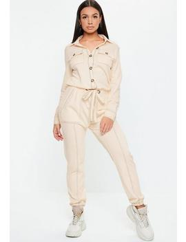 Ivory Contrast Stitch Jumpsuit by Missguided