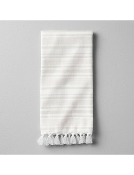 Hand Towel Engineered Stripe   Pebble   Hearth & Hand™ With Magnolia by Shop This Collection