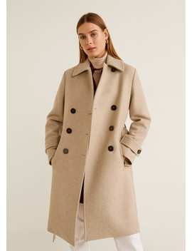 "<Font Style=""Vertical Align: Inherit;""><Font Style=""Vertical Align: Inherit;"">Double Breasted Wool Blend Coat</Font></Font> by Mango"