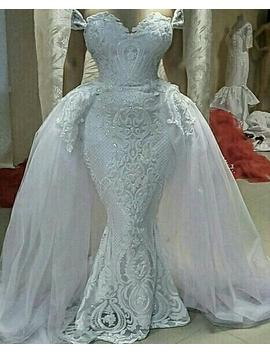 Luxury Couture Sequinned Mermaid Wedding Dress by Etsy