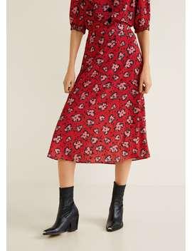 Print Crepe Skirt by Mango