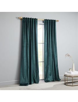 Cotton Luster Velvet Curtain   Green Gables by West Elm