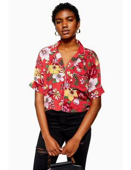 Floral Pyjama Style Shirt by Topshop