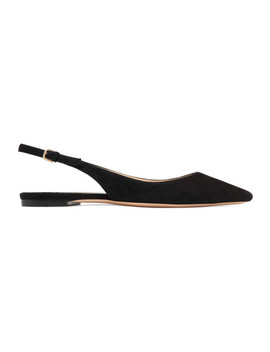 Erin Suede Slingback Point Toe Flats by Jimmy Choo