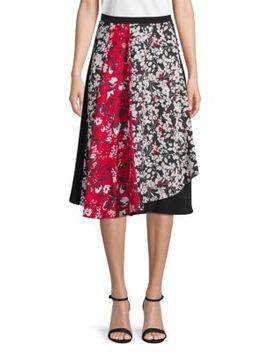 Floral Print Midi Skirt by Calvin Klein