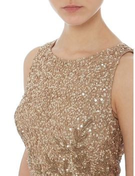 Hi Low Sequin Gown by Adrianna Papell