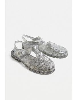 Ju Ju Reilly Clear Glitter Jelly Sandals by Ju Ju