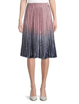 Pleated Midi Skirt by Haute Rogue