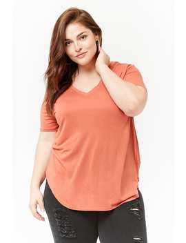 Plus Size Dolphin Hem Tee by Forever 21
