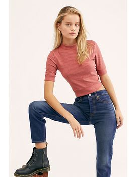 Merci Mock Neck Tee by Free People