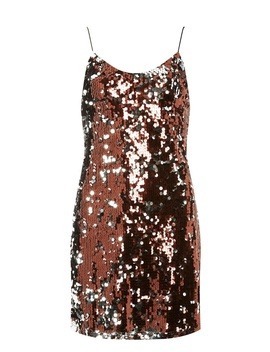 **Brown Sequin Slip Dress by Dorothy Perkins