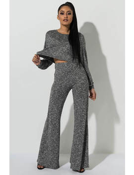 Your Place Or Mine Soft Flare Pants by Akira