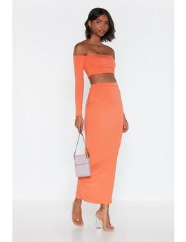 Match Made Ribbed Top And Skirt Set by Nasty Gal