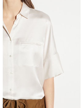 Short Sleeve Silk Blouse by Vince
