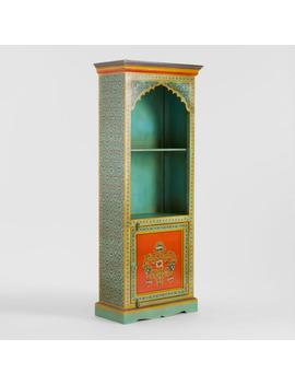 Painted Wood Arch Bookshelf by World Market