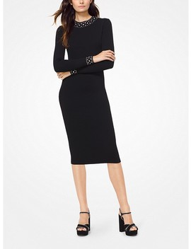 Embellished Stretch Viscose Dress by Michael Michael Kors