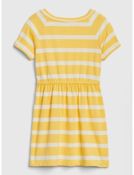 Stripe Fit And Flare Dress by Gap