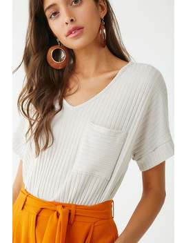 Cutout Pocket Tee by Forever 21