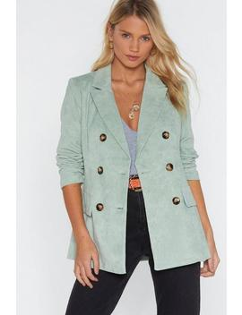 Cord Double Breasted Blazer by Nasty Gal