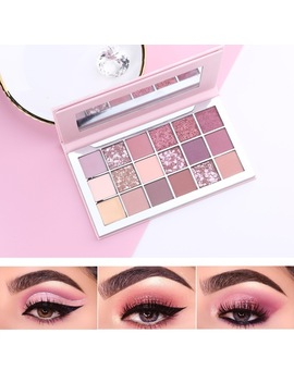 Miaool Beauty Makeup Nude Eyeshadow Palette Brand New 18 Colors Eye Shadow Glitter Shimmer Make Up Cosmetics Set  by Miaool