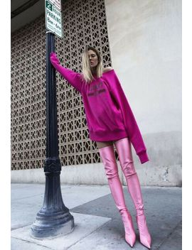 Balenciaga Knife Thigh High Boot In Pink. by Ebay Seller