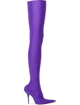 Spandex Thigh Boots by Balenciaga