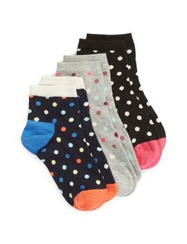 Dot 3 Pack Ankle Socks by Happy Socks