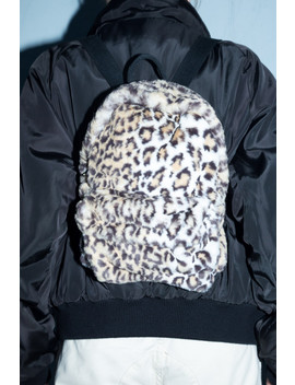 Mini Cheetah Print Fuzzy Backpack by Brandy Melville