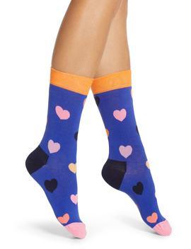 Heart Crew Socks by Happy Socks