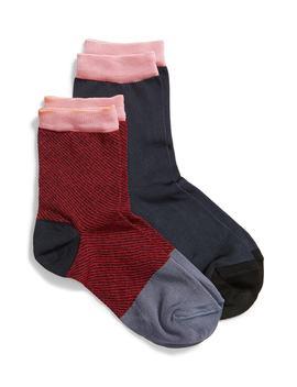 Kajsa 2 Pack Crew Socks by Hysteria By Happy Socks