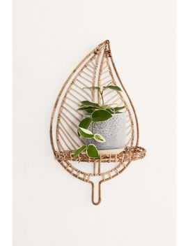 Rattan Leaf Wall Shelf by Urban Outfitters