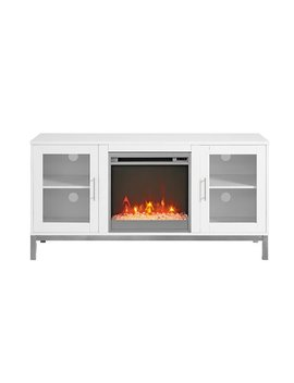 """Avenue Fireplace Tv Console For Most T Vs Up To 55""""   White by Walker Edison"""