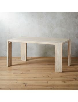 """Blox White Wash Dining Table 35""""X63"""" by Crate&Barrel"""
