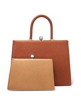 Twin Frame Two Tone Leather Tote by Ratio Et Motus
