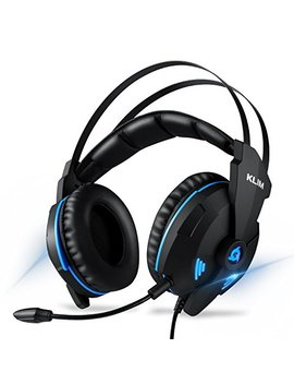 Klim Impact Gaming Headset   Ps4 And Pc   Usb 7.1 Surround Sound   Noise Cancelling Headphones   Headphone With Microphone And Volume Control   Hd Audio, Strong Bass, Mic   Computer Gamer Audifonos by Klim Technologies