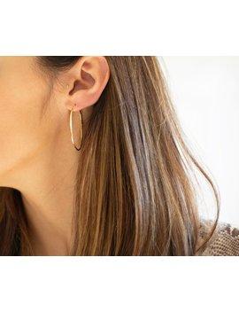 43mm Hoop Earrings Gold Hoop Earrings Dainty Hoop Earrings Minimalist Gold Hoops Silver Hoop Earrings Medium Sized Hoops Christmas Gift by Etsy