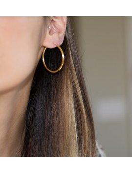 32mm Hoop Earrings, Gold Hoop Earrings, Minimalist Hoops, Gold Hoops, Small Hoop Earrings, Silver Hoop Earrings, Silver Hoops by Etsy