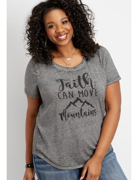 Plus Size Faith Can Move Mountains Graphic Tee by Maurices