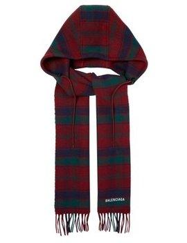 Hooded Wool Scarf by Balenciaga
