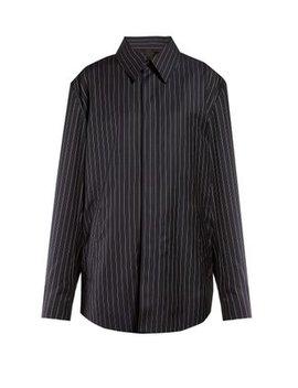 Oversized Striped Poplin Shirt by Balenciaga