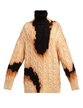 Oversized Acid Stained Cotton Sweater by Balenciaga