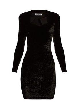 Long Sleeved Velvet Mini Dress by Balenciaga