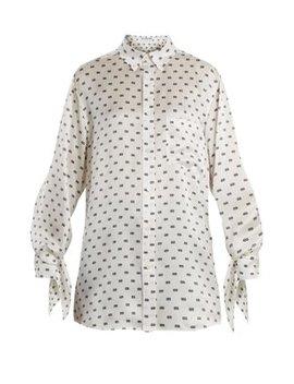 Bb Print Silk Jacquard Shirt by Balenciaga