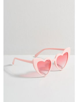Name Of Love Heart Shaped Sunglasses by Collectif