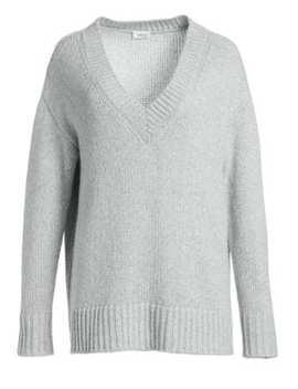 Oversize V Neck Knit Sweater by Akris Punto