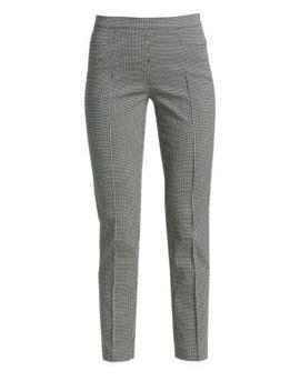 Franca Mini Grid Jacquard Ankle Pants by Akris Punto