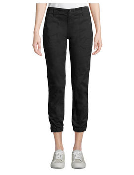 Elastic Hem Patch Front Utility Pants by Vince
