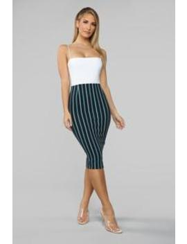 Here We Go Again Midi Skirt   Kelly Green by Fashion Nova