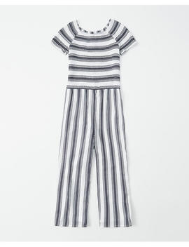 Smocked Cropped Jumpsuit by Abercrombie & Fitch